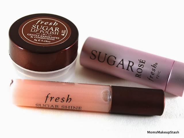 Fresh Sugar Baby Set, Fresh Sugar Lip Polish, Fresh Sugar Rose, Fresh Sugar Shine, Fresh Lip Review
