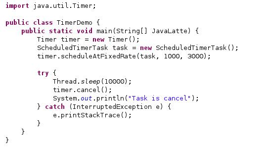 java timer schedule