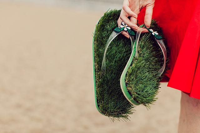 Травяные шлепанцы Kusa