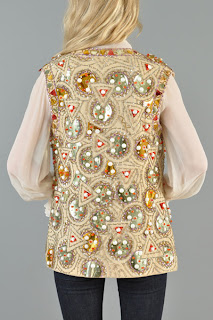 Vintage 1970's Lilli Ann beaded and embroidered vest