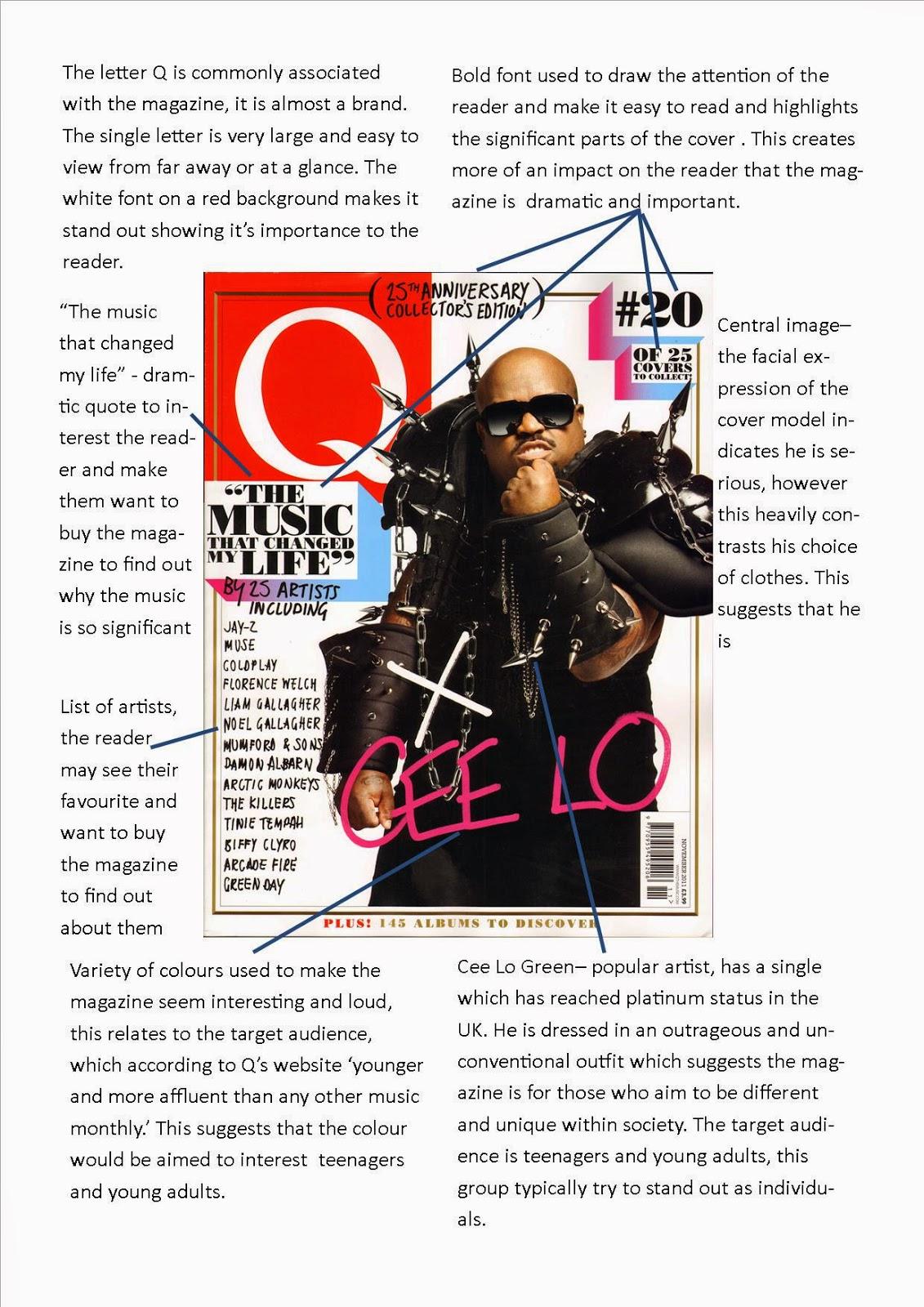 Henry\u0027s AS Media Studies Q magazine analysis