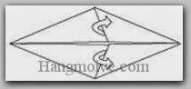 Bước 4: Mở hai lớp giấy ra, kéo sang trái