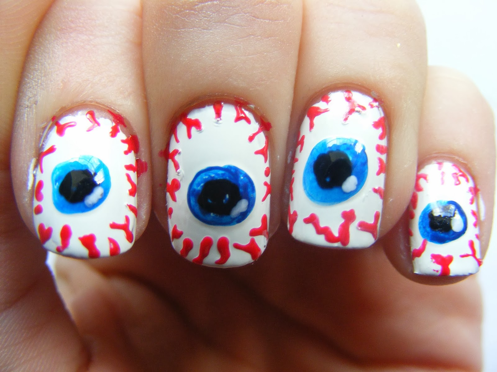 Halloween Nails; Eyeball Nail Art Tutorial | oh hey there rachel