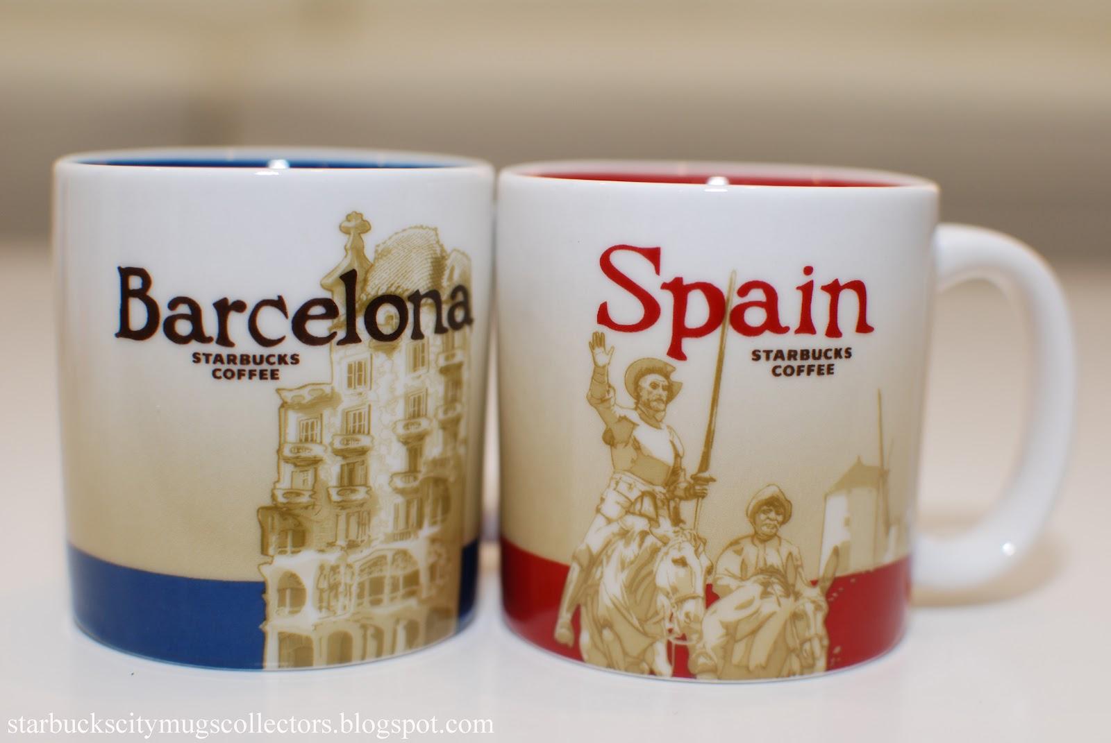 Starbucks city mugs demitasse global icons for Mug barcelona