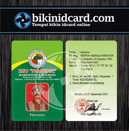 cetak id card pegawai koprasi