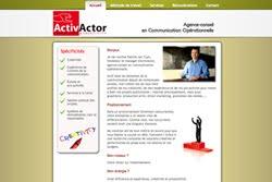 Pour visiter le site web d'ActivActor, cliquez sur l'image ci-dessous.