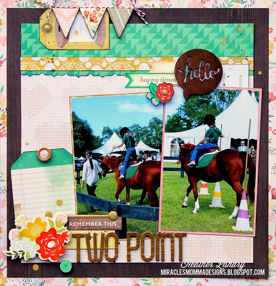 Two Point_Horse Riding_Scrapbook_Page