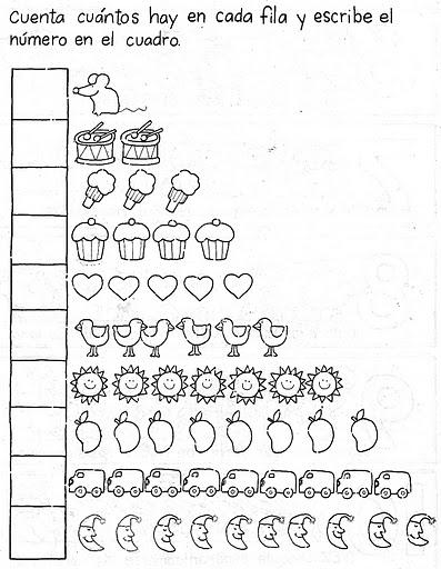 Fichas infantiles ficha del orden num rico para infantil - Como pintar numeros en la pared ...