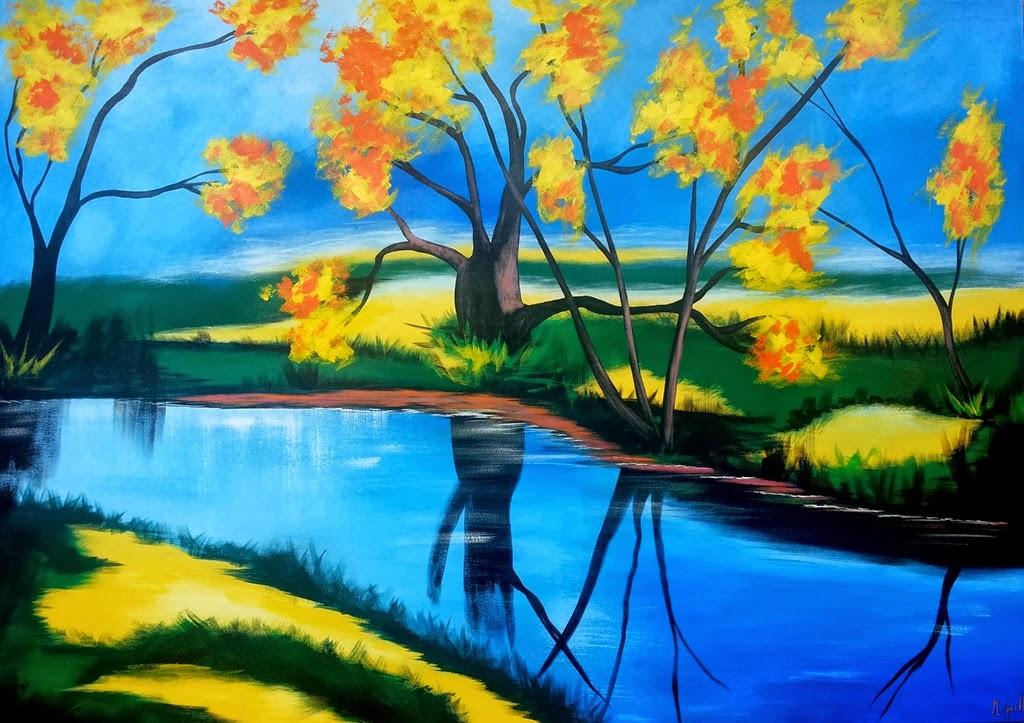 Pintura moderna y fotograf a art stica paisajes for Pinturas acrilicas para cuadros