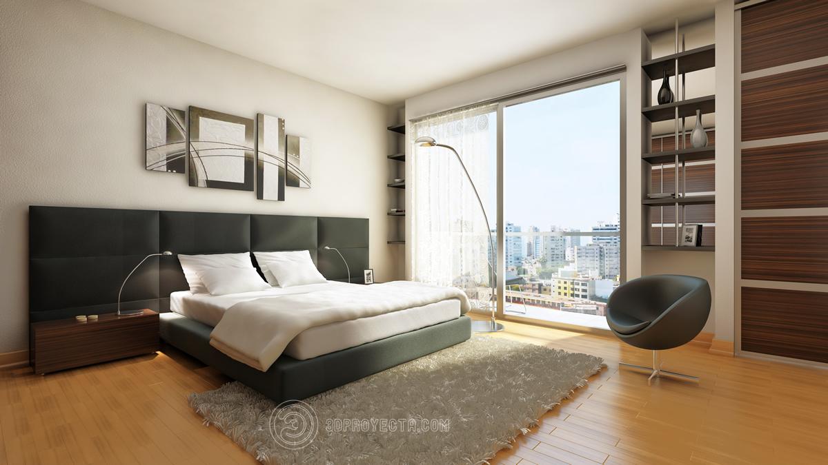 Vistas en 3d para dise o interior de dormitorio vistas for Diseno de interiores recamara principal