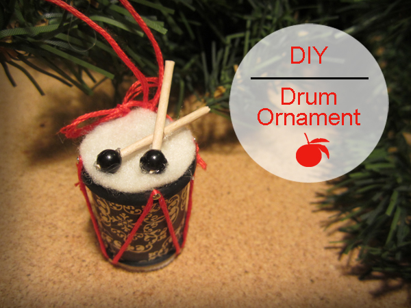 12 days of recycled christmas ornaments diy 12 drum