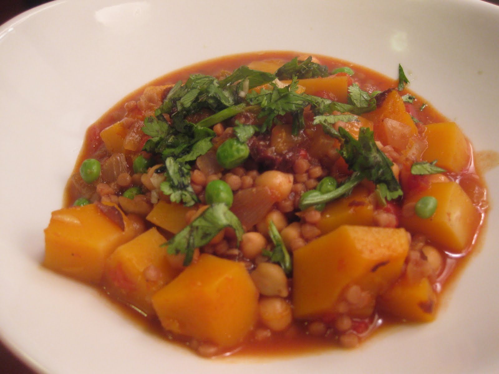 ... Evolution: Butternut Squash and Chickpea Stew with Israeli Couscous
