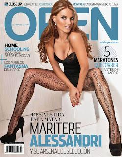 Maritere Alessandri Magazine, Open Mexico Magazine Cover