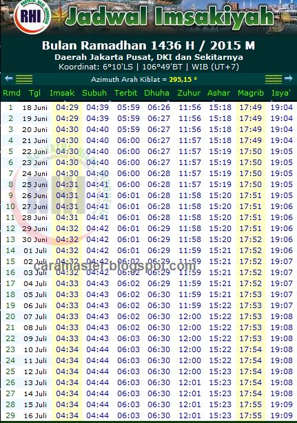 download gambar jadwal imsakiyah ramadhan