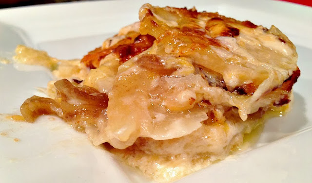 Three Cheese Scalloped Potatoes Recipe — Dishmaps