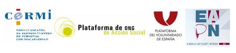 Logos de las cuatro plataformas firmantes del manifiesto