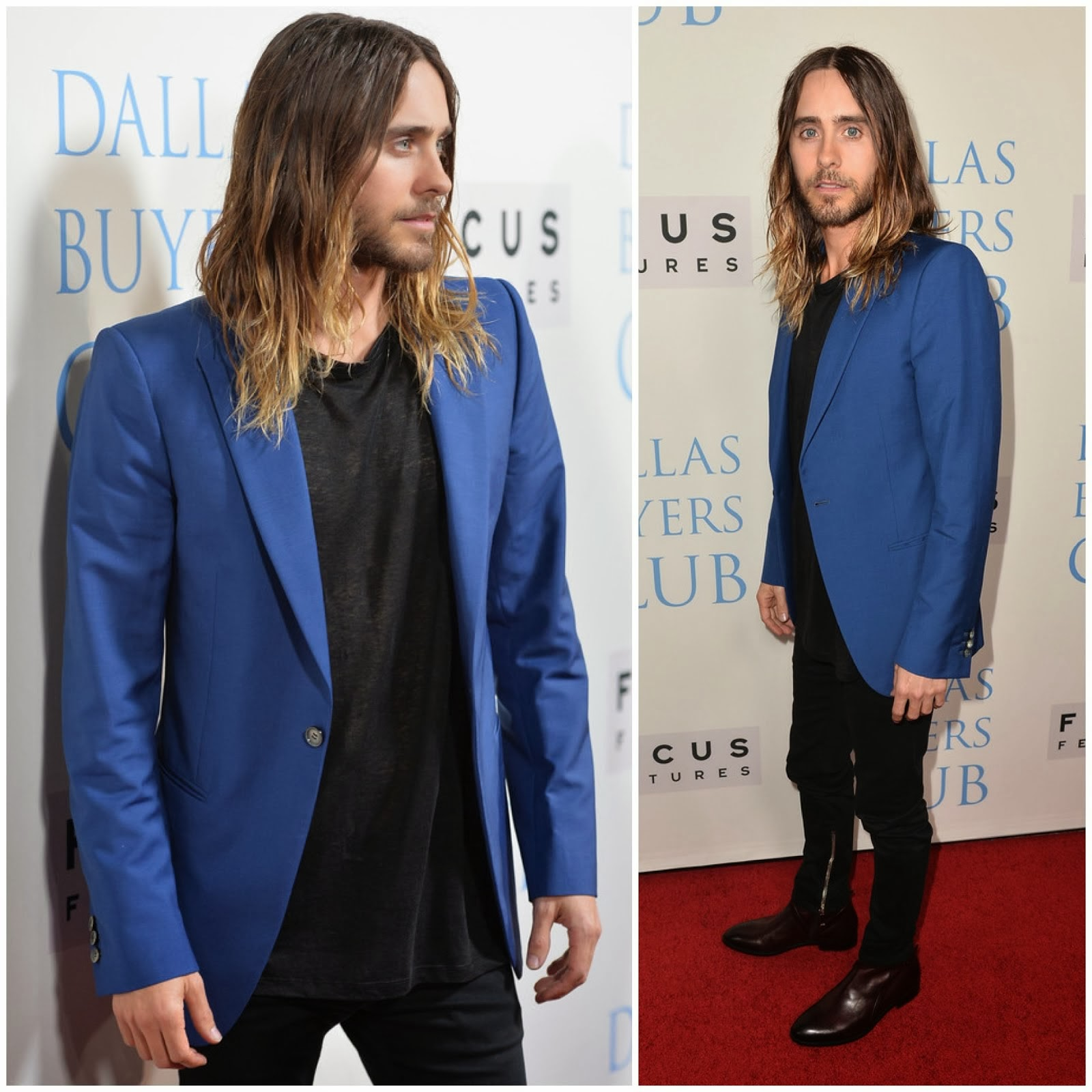 00O00 Menswear Blog: Jared Leto in Alexander McQueen - 'Dallas Buyers Club' premiere, Beverly Hills, California