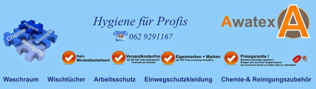 Awatex Hygiene CH Schweiz Chemie Reinigung Arbeitschutz  detektierbare Produkte 5S Schattenwand