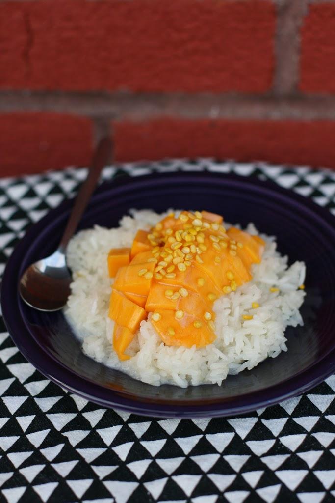 Carotte lychee recette mangue sur riz collant et lait de coco - Riz lait de coco ...