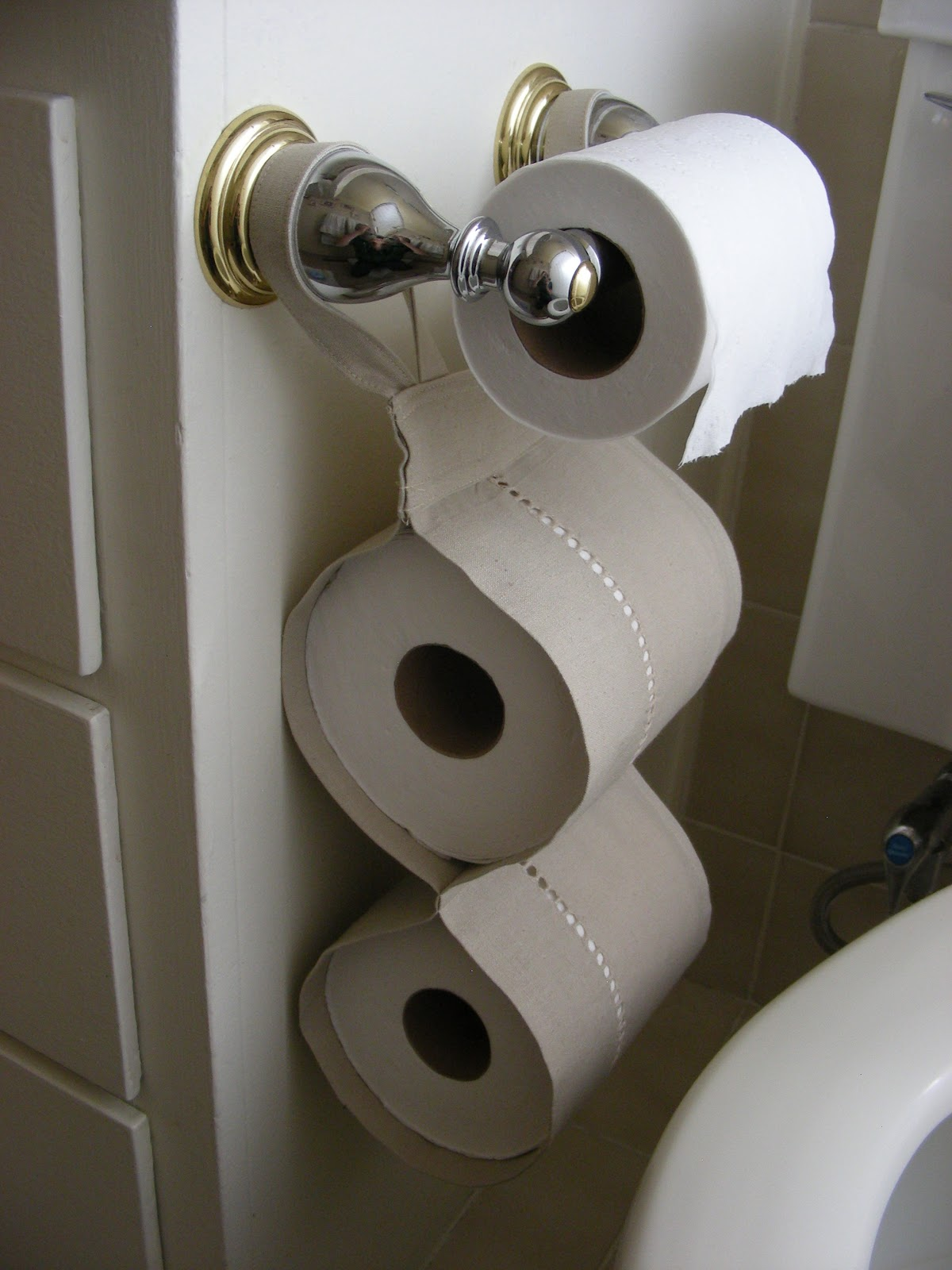 A sassy seamstress extra toilet paper storage Kids toilet paper holder