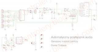 Automatyczny przełącznik audio - schemat ideowy