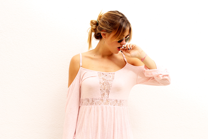 pink, lace and boho