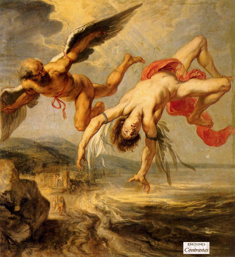 Dedalo e Icaro: l'uomo, il volo e la caduta. Significato di una leggenda. Icaro_dedalo