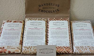 Dandelion Chcolate bars