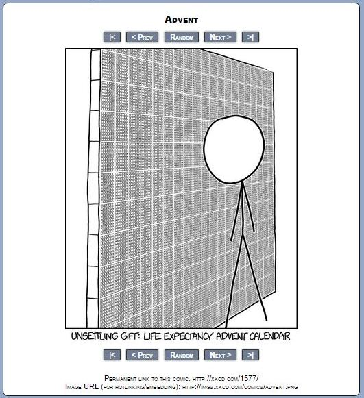 Johns wtf ive got cancer blog xkcd and i gotta say the meeting with the oncologist did feel a lot like being handed a life expectancy advent calendar and yup it was unsettling urtaz Image collections