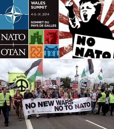 Protesters in Wales say no to NATO wars
