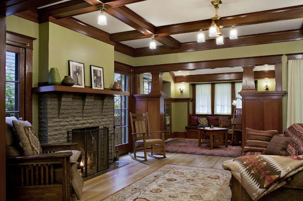 Craftsman Style Home Interior Living Rooms
