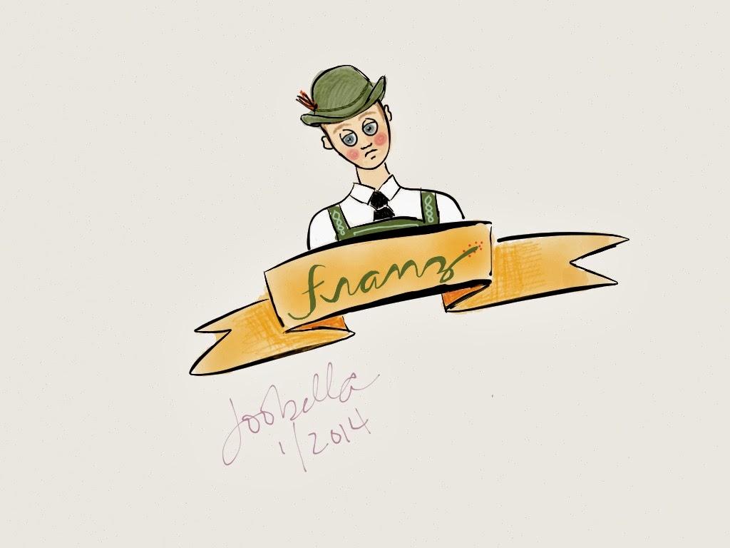 Franz made with paper by 53 via facedances.blogspot.com