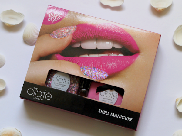 Ciaté Shell Manicure - Candy Floss & She Sells Sea Shells.
