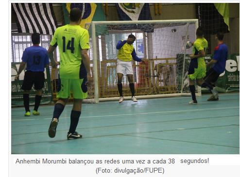 Essa foi a tônica da rodada deste domingo (19) na Copa Gelol de Futsal.  Foram marcados impressionantes 164 gols nos nove jogos desta rodada 8ab41fdcb1f14