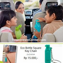 Eco Bottle Square Key Chain, Tupperware Indonesia