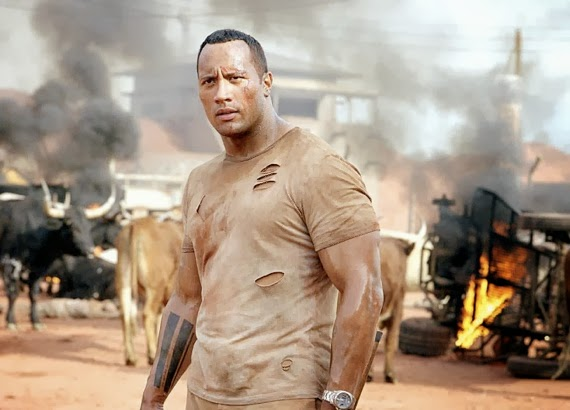 Dwayne Johnson in a series of Welcome to the Jungle ...