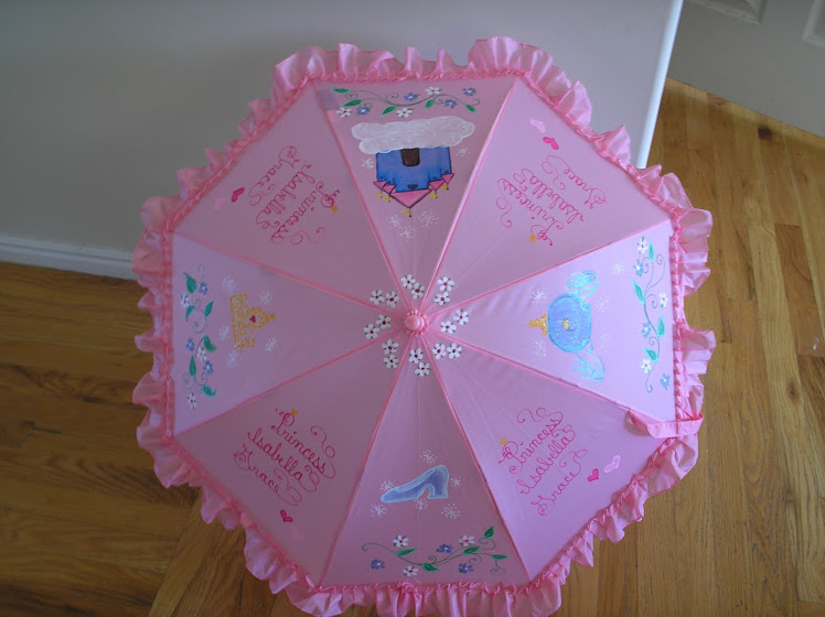 pink princess umbrella