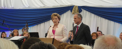 President McAleese addressing her final garden party
