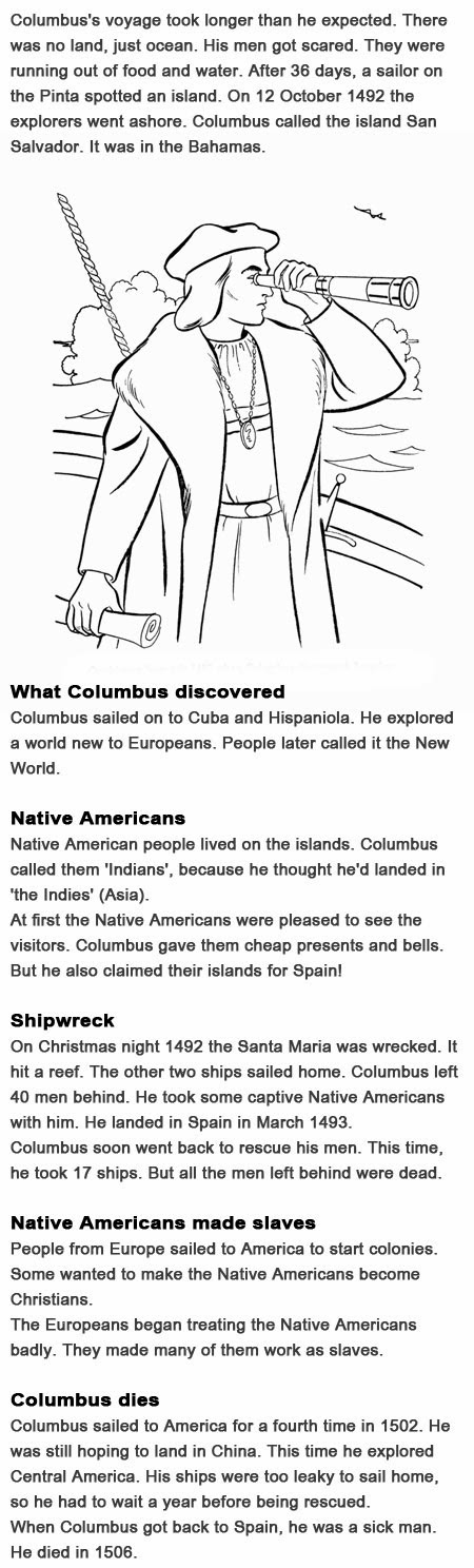 Facts on Christopher Columbus for kids
