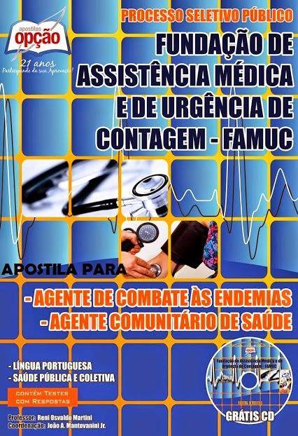 Apostila FAMUC Contagem/MG cargo Agente Comunitário de Saúde Concurso 2014