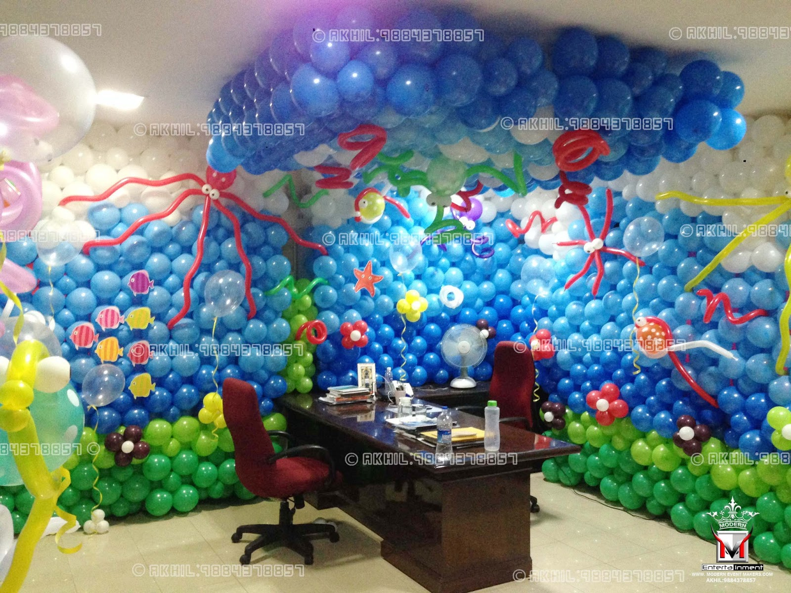 Balloon party decorators balloon decorations birthday for Balloon decoration ideas for birthday party