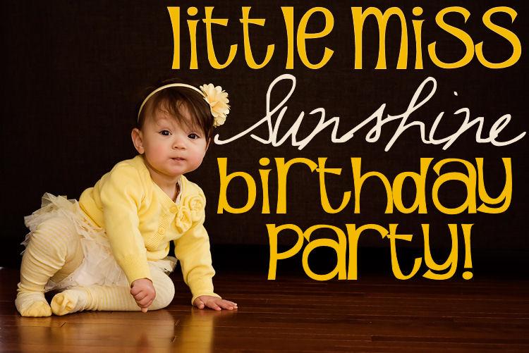 Little Miss Sunshine Cake Ideas