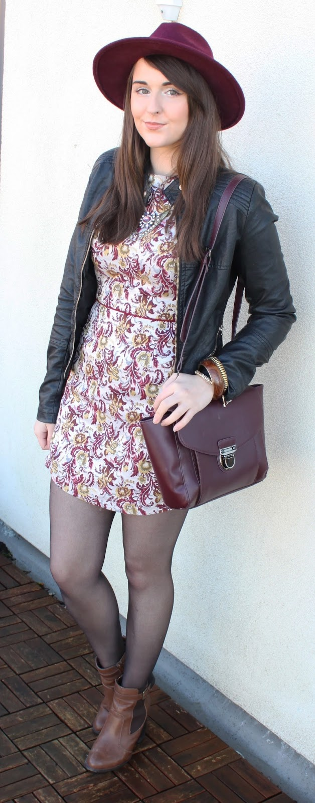 boho-style-tapestry-dress-with-black-leather-jacket