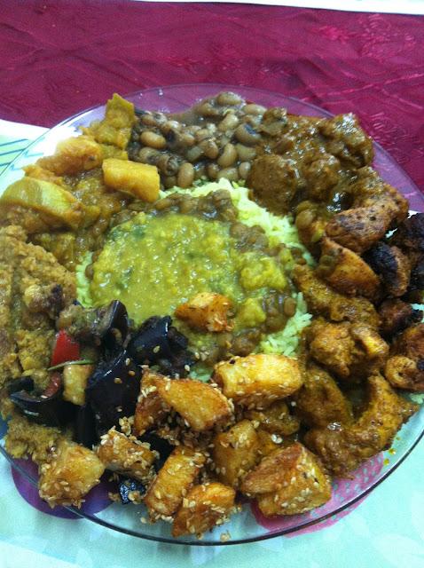 עוד זווית של האוכל המדהים של הלל ורינה במסעדת סלאם בומביי