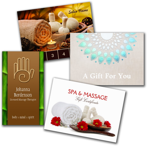 Shop business cards massage and spa business cards for Spa business card