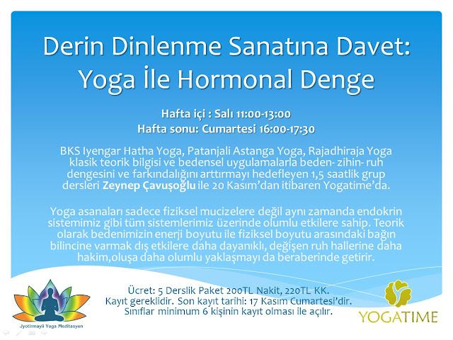 Derin Dinlenme Sanatına Davet: Yoga İle Hormonal Denge Zeynep Çavuşoğlu