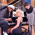 Lady Gaga se encuentra con Nile Rodgers y Diane Warren en estudio de grabación