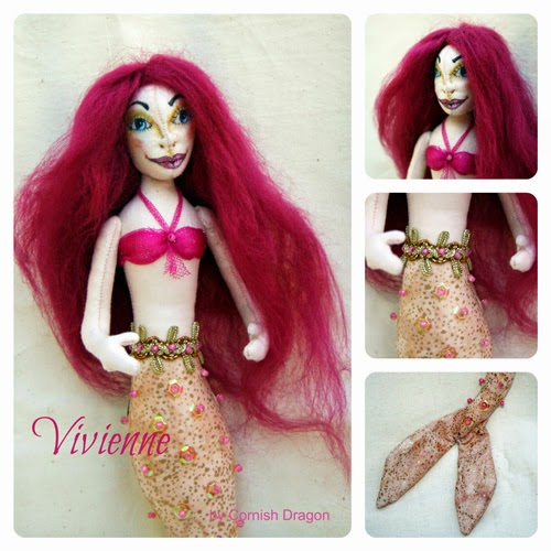 Vivienne mermaid cloth art doll