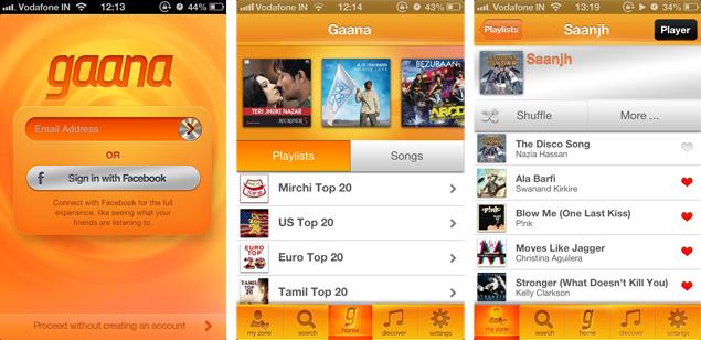 Gaana.com releases mobile app