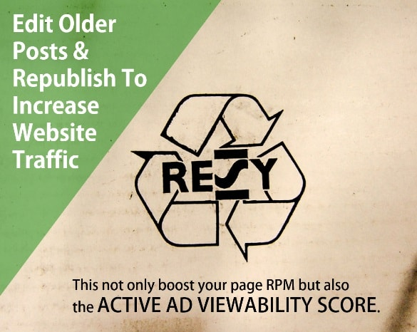 Edit Older Posts & Republish To Increase Website Traffic